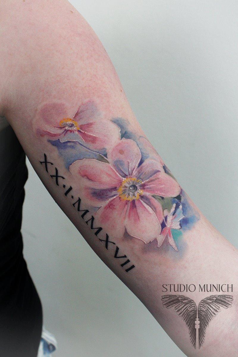 Tattoo Studio Munich Aquarell Tattoos